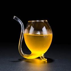 300ML Straw Glass Mug