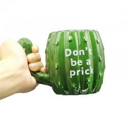 Green Cactus Ceramic Mug