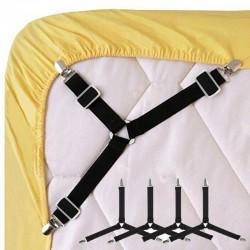 4pcs/set  Adjustable Bed Sheet Clips