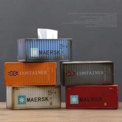 Retro metal container tissue box