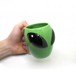 Creative Green Alien Coffee Mug