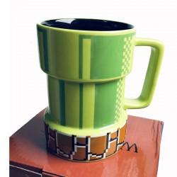 Cartoon Super Mario apertures pixel mug