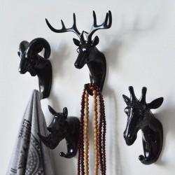 Animal Head Hanger Wall Keychain Hook