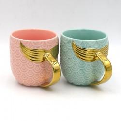 Golden Mermaid Tail Ceramic Mug