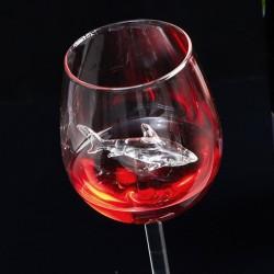 Shark Inside Goblet Red Wine Glasses