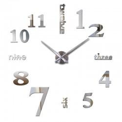 Big diy acrylic mirror wall clock