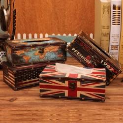 Leather Nordic Retro Tissue Box Napkin Holder