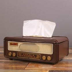 Retro Radio Shape Tissue Paper Box